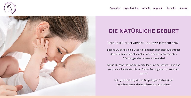 cp-webdesign Referenz dienatuerlichegeburt.ch